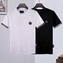 L'étranger authentique 2021 nouveau philipp plein T-Shirt PP courtes o-cou tees manches hauts vêtements pour hommes 661