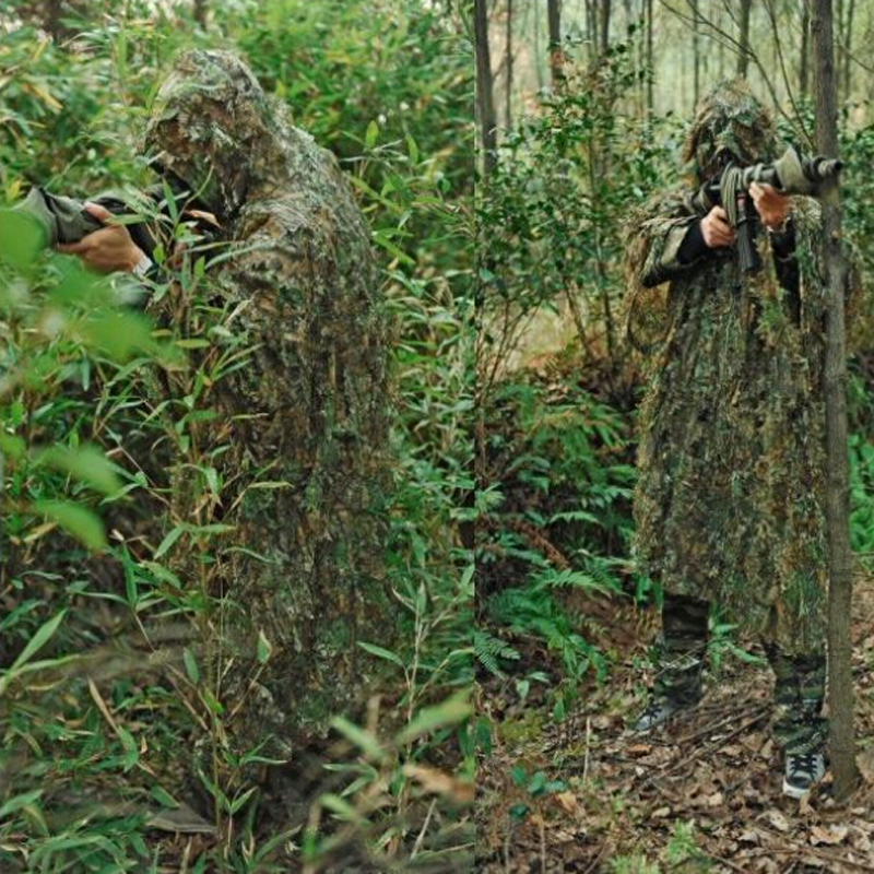 Military Equipment Tactical Hunting Clothes Ghillie Suits Woodland Camouflage Clothing Airsoft Sniper Birdwatch Jacket + Pants