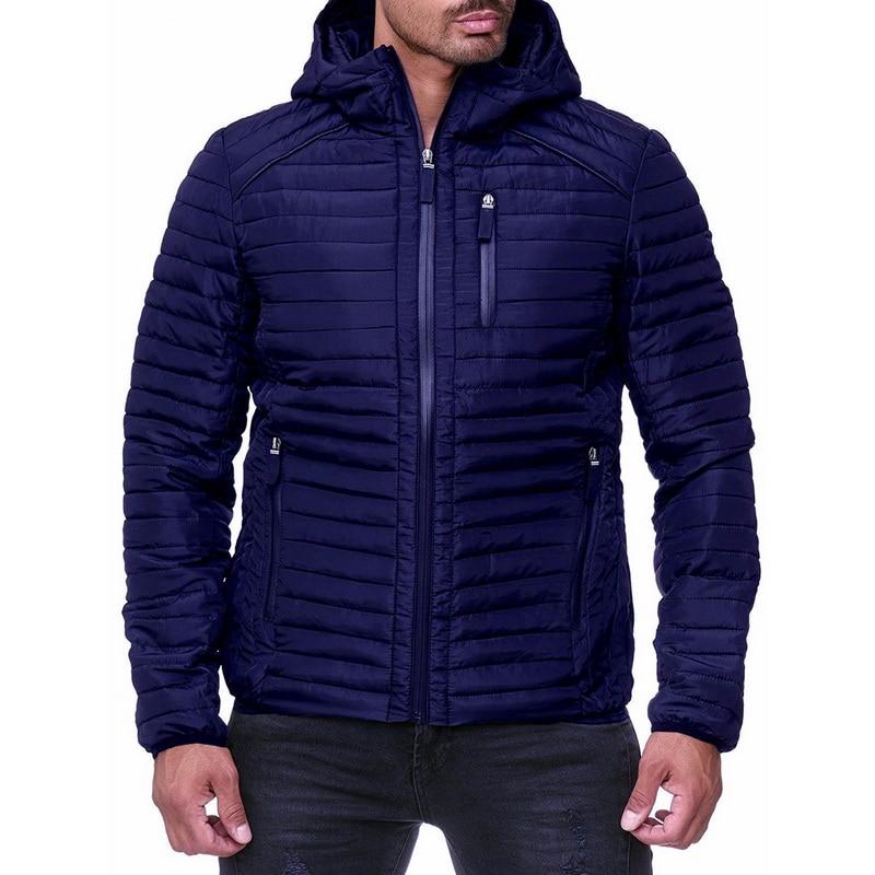 CYSINCOS Men Down Jacket Casual Fashion Winter Jacket Men Hooded Windbreaker White Duck Coat Male Outwear Cotton Padded Jacket
