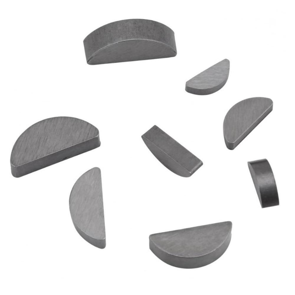 80PCS 8 Size Woodruff Key Stainless Steel Assortment Kit Set Metric Half Moon Shaft Drive Fastener Metal For Mechanical Industry