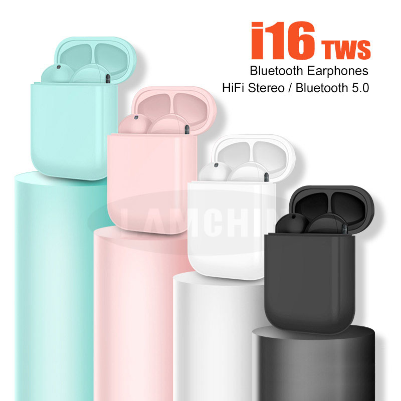 2019 i16 <font><b>TWS</b></font> Bluetooth 5.0 Earphone Wireless <font><b>Earbuds</b></font> Touch Ear with Mic Earphones for iPhone Pk i10 i12 i13 <font><b>i14</b></font> i15 <font><b>tws</b></font> image