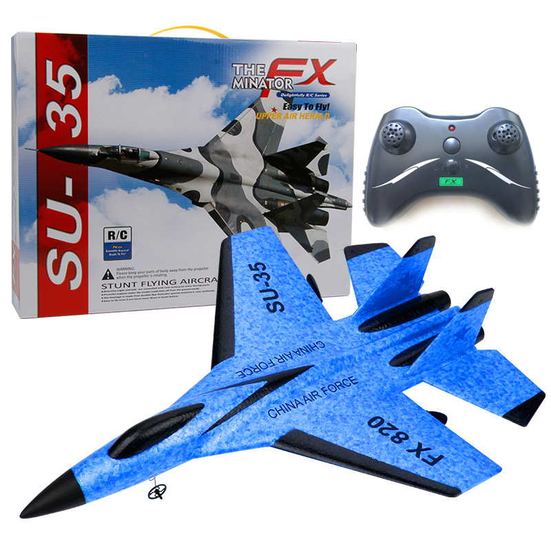 Sue SU35 Glider EPP Fixed-Wing Foam Model Airplane 2.4G Children Electric Remote Control Aircraft Toy Mould Fx820