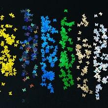 5 g/bolsa de Arte de uñas Holo decoración DIY mariposa manicura lentejuelas láser Aurora uñas 3D de rebanadas