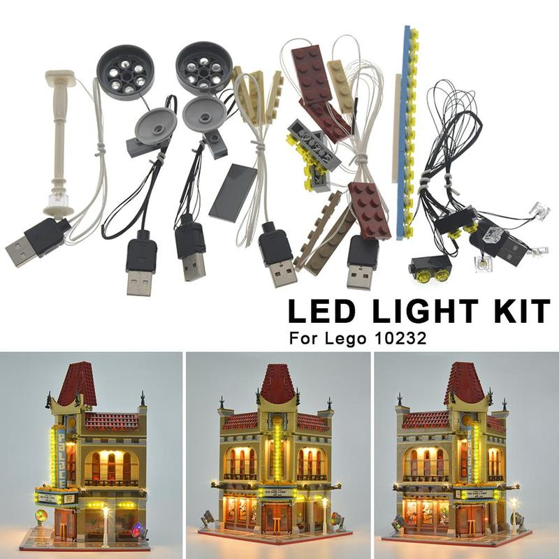 LED Light Kit For LEGO 10232 Palace Cinema DIY Luminous Assembled Building Blocks Light Kit Toy ABS Building Block Supplies