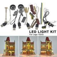 LED Light Kit For LEGO 10232 Palace Cinema DIY Luminous Assembled Building Blocks Light Kit Toy ABS Building Block Supplies