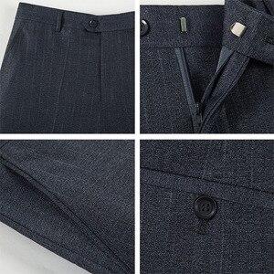 Image 5 - Letni biznes cienki kombinezon spodnie dla mężczyzn rozmiar 29 56 wiosna jesień mężczyzna formalne jednolity jedwab długie spodnie wizytowe workowate spodnie biurowe