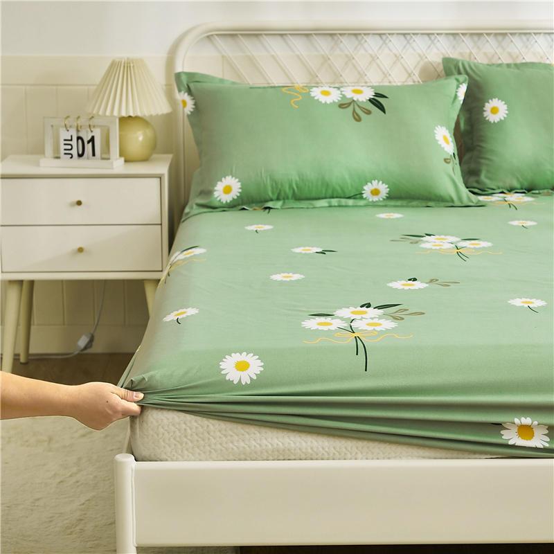 Авокадо постельное белье 1 шт простыней на кровать зеленый авокадо печатных простыня наматрасник с Эластичная лента постельного белья (без наволочки)-5