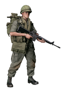Image 3 - Damtoys Dam 1/12 PES004 Ons Leger Soldaat In Vietnam 25th Infantry Division Private Military Action Figure Collection