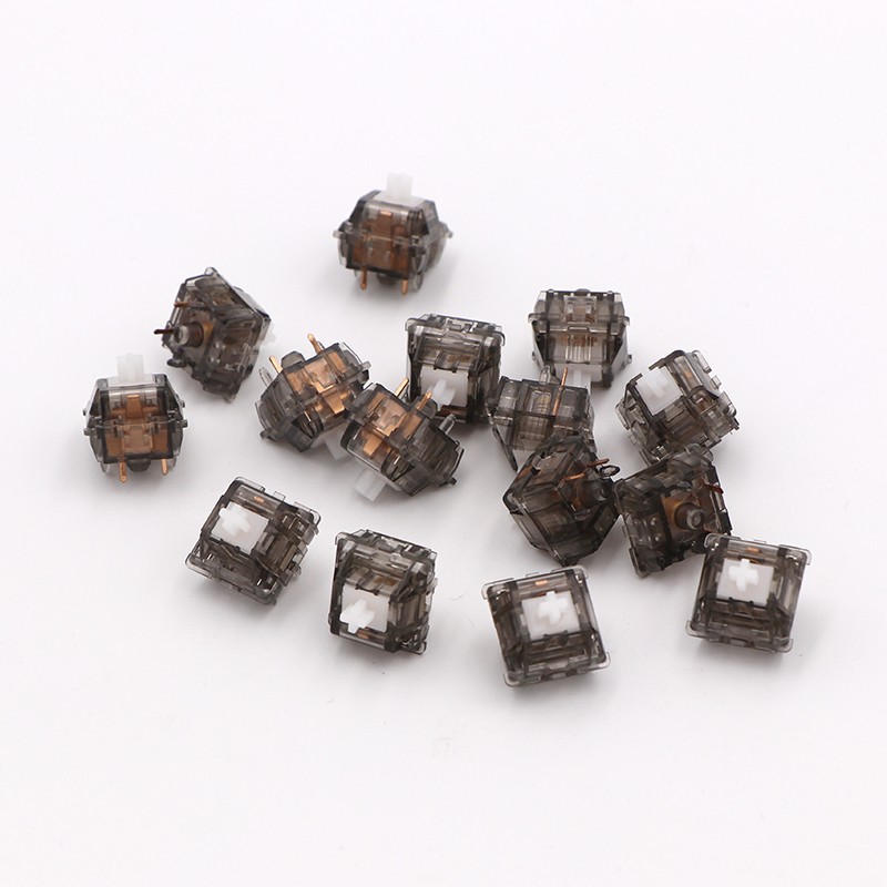 1 Pack Everglide Ink Clear Switch For Mechanical Keyboard Gold Contactor 5 Pins Transparent Switch Shaft