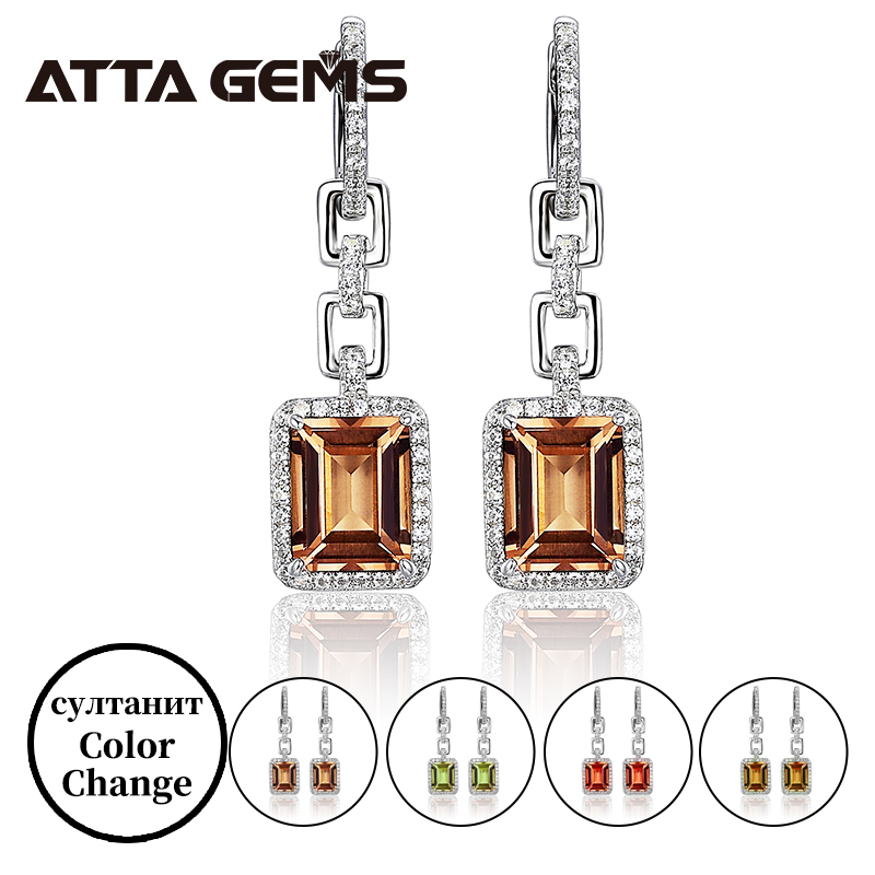 Zultanite Sterling Silver Drop Earring S925 Jewelry For Women Business Occassion Created Zultanite Color Change Classic Style