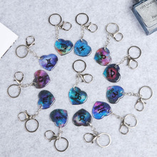 Twelve Constellation Bracelets Key Links Car Rings Decorations