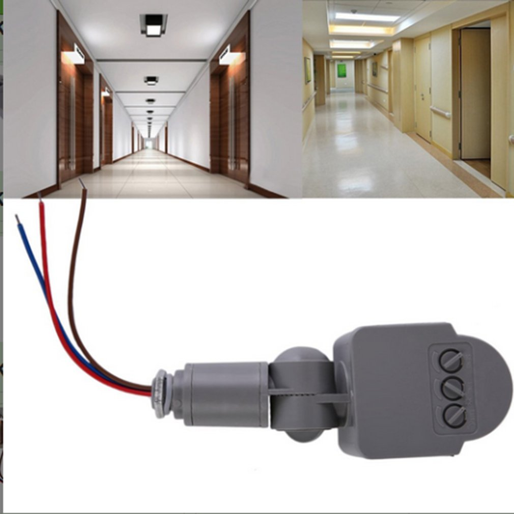 Universal Professional Motion Sensor Light Switch Outdoor DC/AC8V-12V Automatic Infrared PIR Self Defense With LED Light