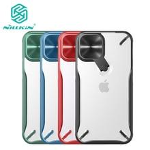 Dla iPhone 12 12 Pro Case Nillkin Cyclops Camera pokrowiec ochronny dla iPhone 12 Pro Max metalowy stojak na iPhone 12 mini