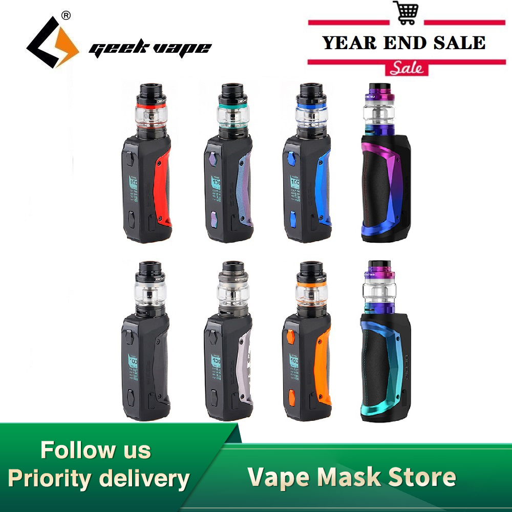 Original GeekVape Aegis Solo Cerberus Kit With 100W Aegis Solo Box MOD & 5.5ml Cerberus Subohm Tank Box Vape Vs Gen Kit / Luxe