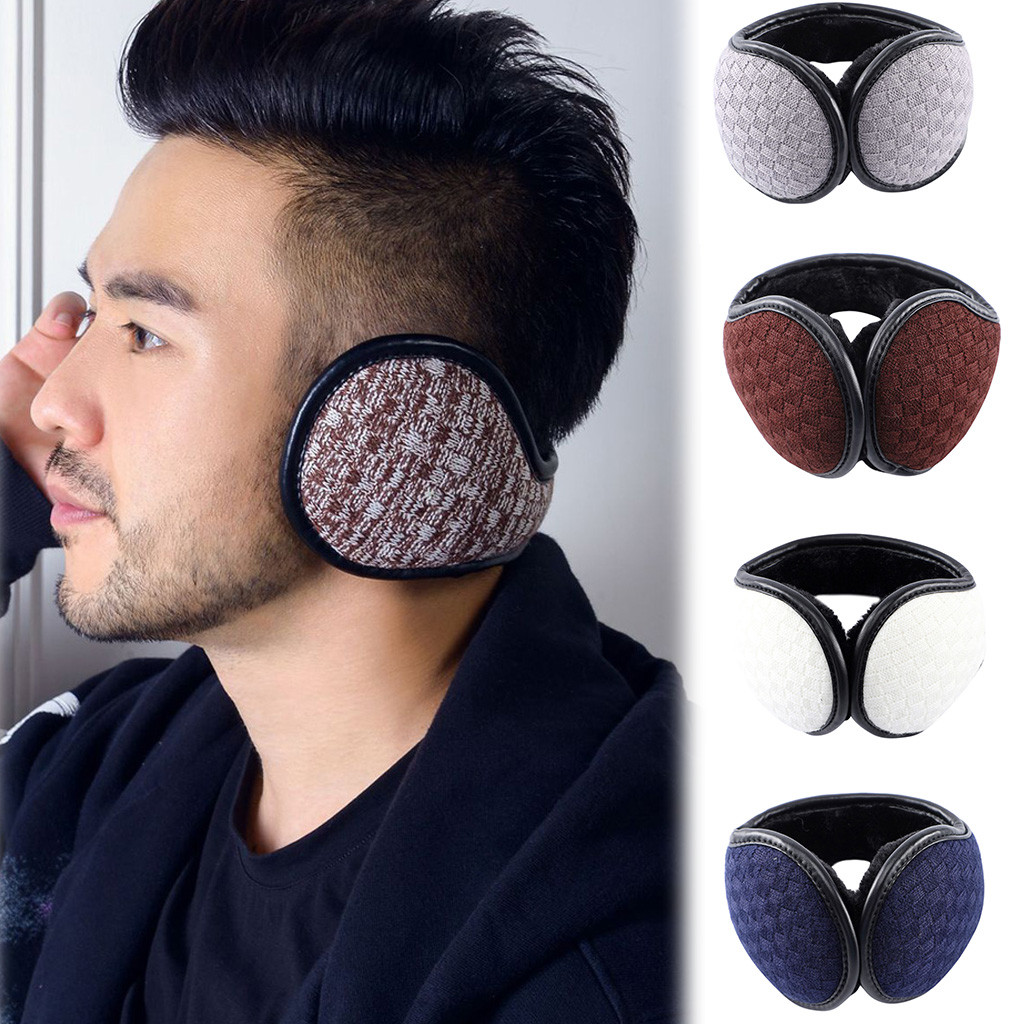 SAGACE Unisex Solid Color Foldable Winter Earmuffs  Ear Cover Protector Thicken Plush Warm Earmuff Warmer Apparel Accessories