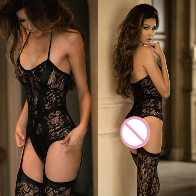 New Sexy Lingerie Teddies Bodysuits Erotic Lingerie Open Crotch Elasticity Mesh Body Stockings Hot Porn Sexy Underwear Costumes