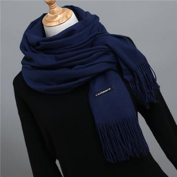 2019 Hot Sale Men Cashmere Scarf Unisex Thick Warm Winter Scarves Black and Gray Gentleman's Bussiness Scarves foulard femme