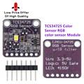 Новый и оригинальный цветной датчик 34725 TCS34725, модуль платы разработки цветного датчика RGB TCS34725, модуль распознавания цветного датчика