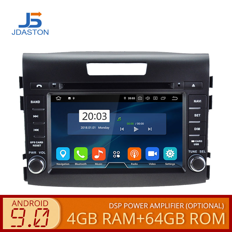 JDASTON Android 9.0 Car DVD Player For <font><b>Honda</b></font> <font><b>CRV</b></font> CR-V 2011 2012 2013 <font><b>2014</b></font> 2015 GPS Radio WIFI 4G+64G <font><b>Multimedia</b></font> Headunit Stereo image