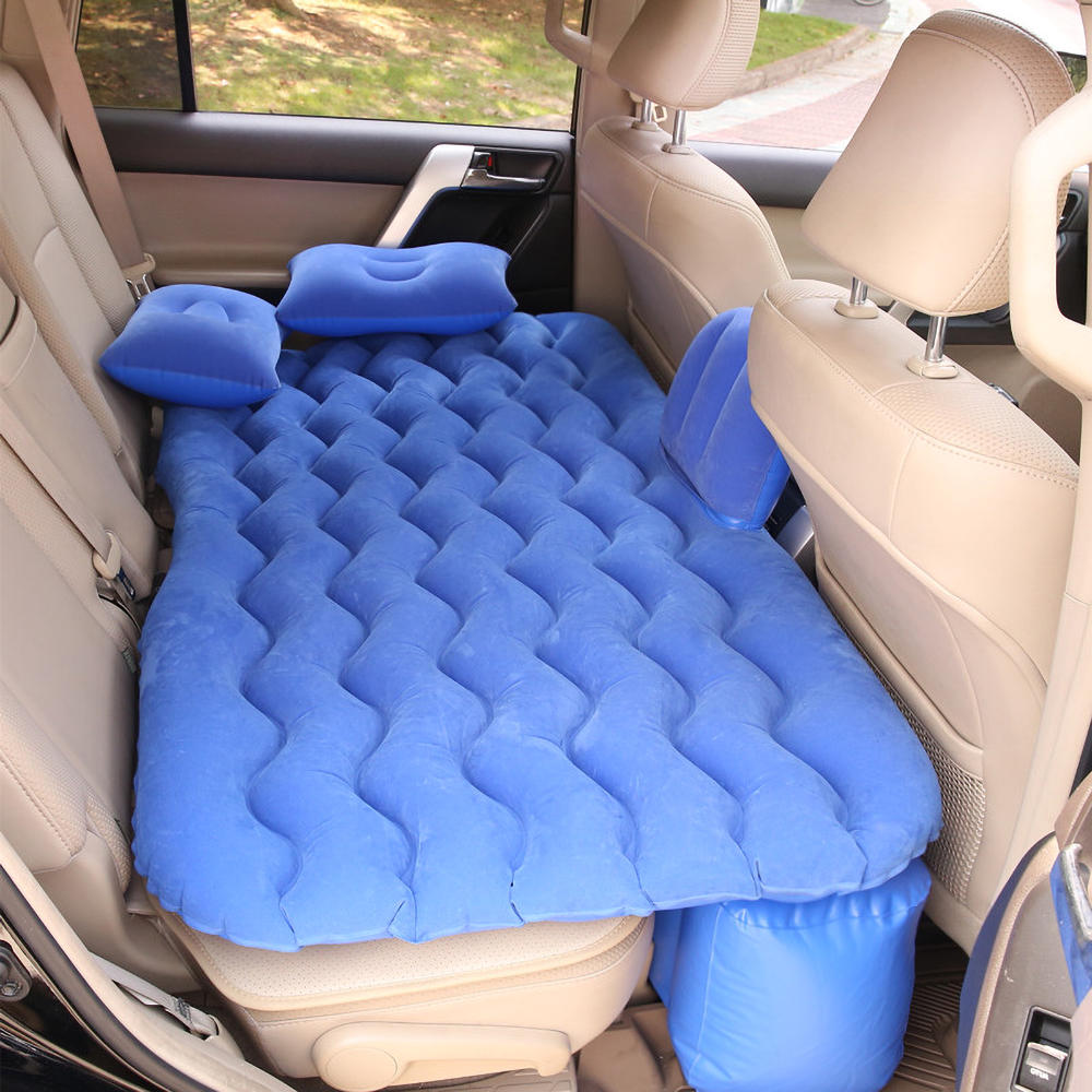 Car Travel Bed Auto Air Mattress Rear Seat Inflatable Sofa Split Bed Camping Outdoors Sleeping Rest Cushion,Without Inflate Pump