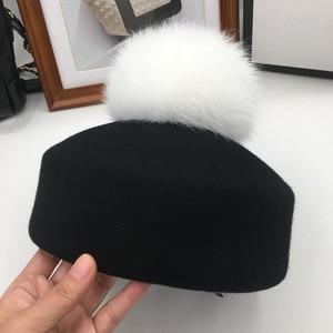 Image 3 - Осенняя и зимняя мода маленькие фетровые шерстяные фетровые шляпы джазовая шляпа свернутый подол