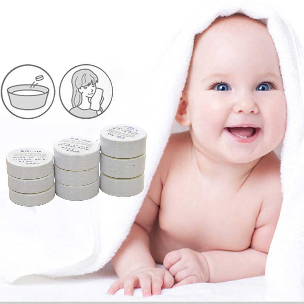 1 Pc portátil de viaje al aire libre reutilizables de algodón cuidado de la cara comprimido toalla toallita facial arandelas mano tela toallas para bebé adulto