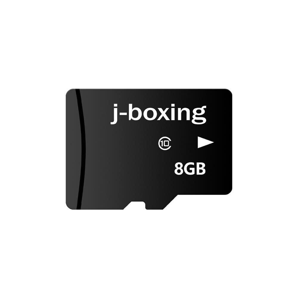 Cartão flash da classe 10 do cartão 8 gb do tf do cartão de memória do flash do j-boxe para o telefone celular, tabuleta, câmera, fogo, gopro, nintendo, dashcam,