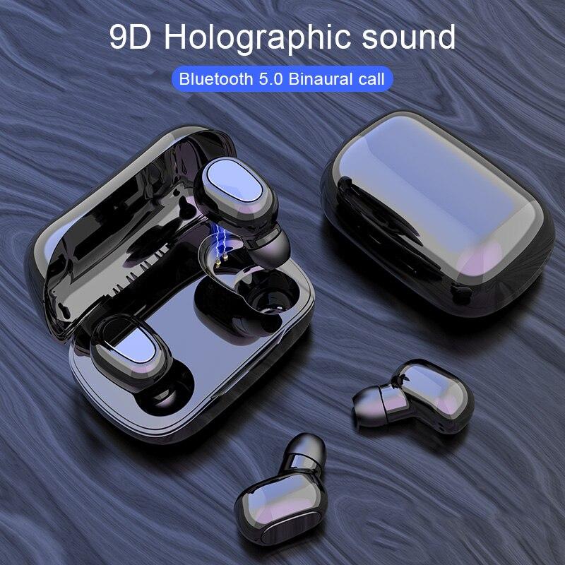2020 nuevo auricular inalámbrico Y33TWS Bluetooth 5,0 auriculares táctiles auriculares inalámbricos con almacén de carga auriculares pk Y30 B5 TWS