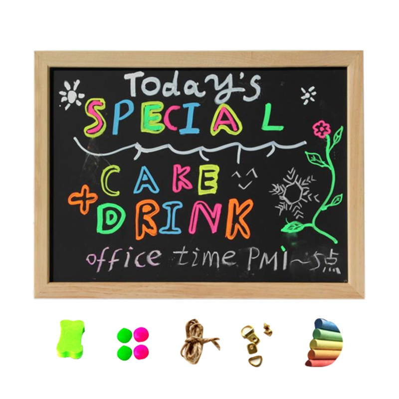 Small Magnetic Dry Erase Black Board 16 Inch X 12 Inch Magnetic Blackboard For Kids Drawing Teacher Instruction Memo Board