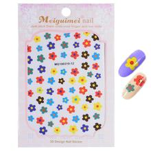 1 Sheet Transfer Stickers Adhesive Decals Nail Decoration DIY 3d Flower
