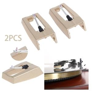 Image 1 - 2PCS LP Turntable Phonograph Diamond Stylus Needles Accessories For Gramophone Record Golden