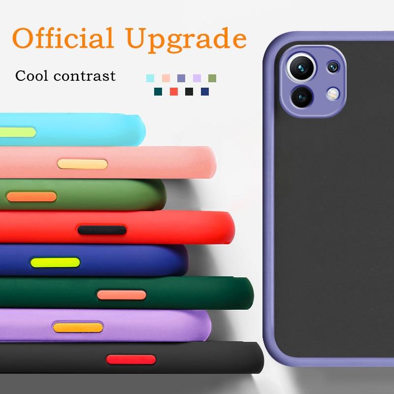 Матовый Силиконовый ударопрочный чехол для телефона IPhone 6 7 8 PLUS XR XS X MAX 11 Pro 12 MINI SE2020, прозрачный чехол для защиты объектива