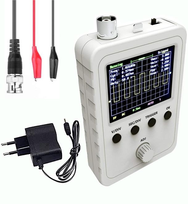 """2.4 """"tft kit osciloscópio digital com fonte de alimentação bnc-cabo clipe sonda ds0150 (máquina terminada montada) vs dso138"""