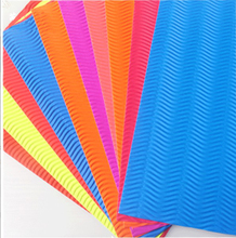 Color A4 corrugated paper 10 sheets for kindergarten childrens manual model materials DIY art wave