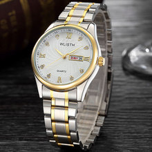 цена Male Watch Belt Steel Band Waterproof Business Fashion Student Quartz Luxury Watch Reloj Automatico Watch Men Wristwatch онлайн в 2017 году