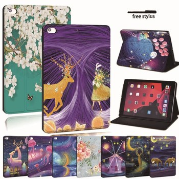 For Apple iPad 2 3 4 5 6 7/Air 1 2 ,Air 3 10.5/Pro 11/ Pro 2nd 10.5 -Printed PU Leather Tablet Stand Folio Cover Shockproof Case for ipad 2 3 4 5 6 7 air 1 2 3 pro 11 2018 2020 pu leather tablet stand folio cover ultra thin star colors slim case