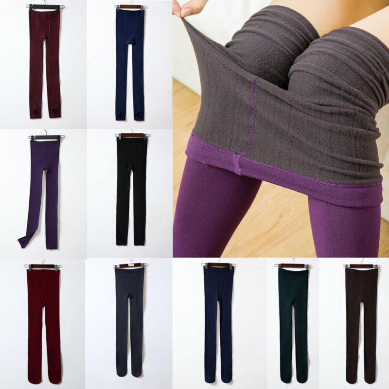 New Women Bodycon Winter Thick Warm Fleece Leggings Lined Thermal Stretchy Slim Skinny Pants