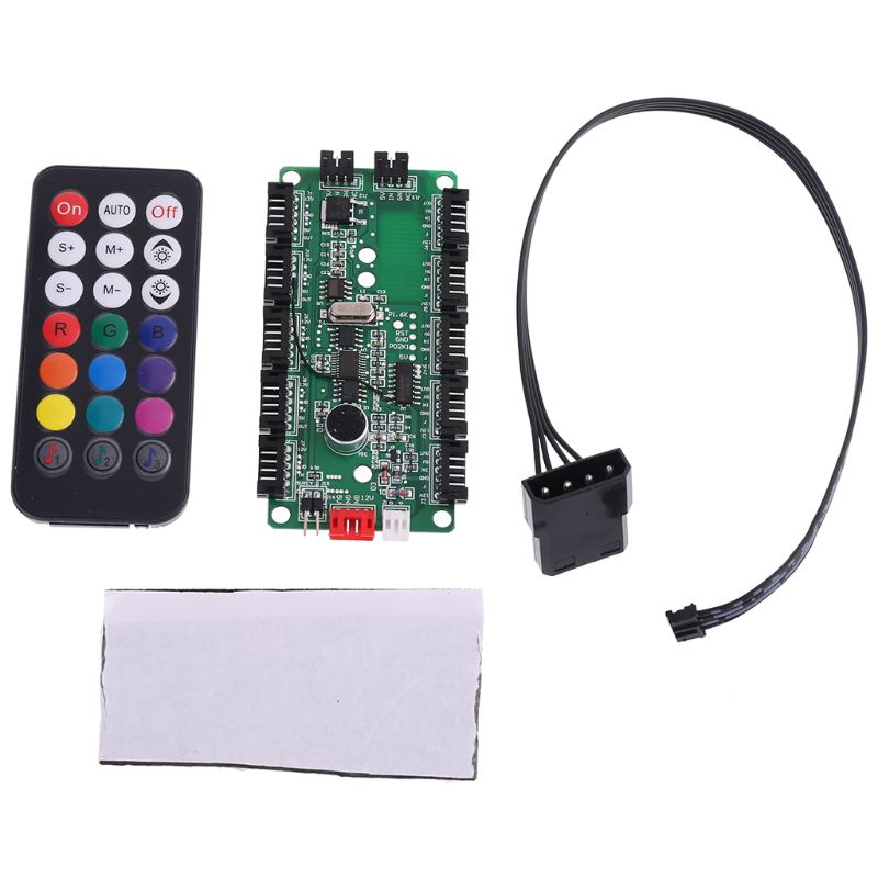 Adjustable Music Computer PC RGB Cooling Fan Controller Control Panel For CPU+IR Remote Control Heat Sink Accessories