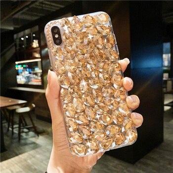 2020 Fashion Redmi note7 pro Ultra-thin Cute DIY Phone Case For xiaomi redmi 8PRO 4X NOTE5A Bling Diamond Glitter Coque Cover