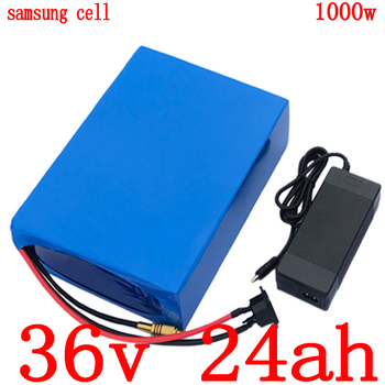 36V 500W 1000W ebike battery 36V 24AH electric bike battery 36v 25ah lithium battery use samsung cell with 30A BMS+42V charger image