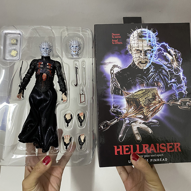 NECA He'll Tear Your Soul Hellraiser Action Figure Apart Ultimate Pinhead Figures Collectable Model Toy Gifts 18cm