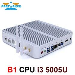 بارتاكر B1 جهاز كمبيوتر صغير إنتل كور i3 5005U مكتب الكمبيوتر 4K 300M واي فاي HDMI VGA 6 * USB جيجابت إيثرنت ويندوز 10 لينكس HTPC