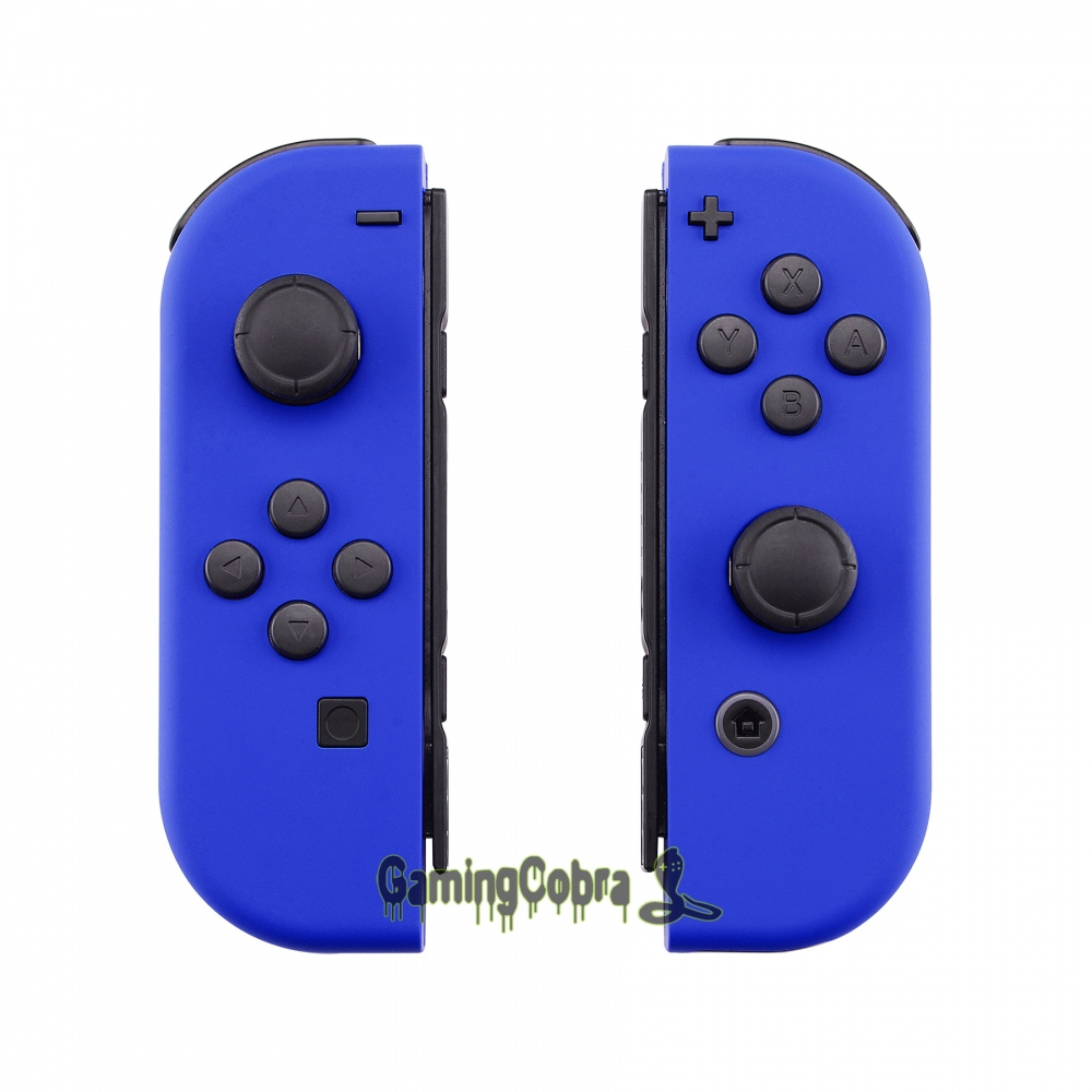 Custom Soft Touch Blue Controller Housing With Full Set Buttons DIY Replacement Shell Case For Nintendo Switch Joy-Con