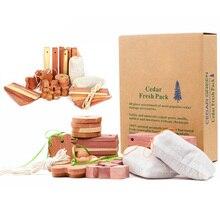 Ящики шары уменьшить запах Освежитель Воздуха кедр деревянный набор висячий блок с Саше естественные шкафы аэрозоль от моли бытовой шкаф