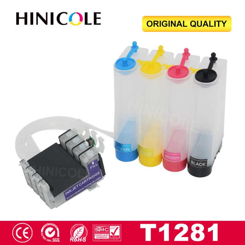 Hinicole T1281 Yazıcı Ciss Mürekkep Tankı Için Epson Stylus S22 SX125 SX130 SX230 SX235W SX420W SX425W Yazıcı