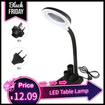 LED Table Lamp Illuminated Flexible Bendable Desk Light Eye Protection Reading Lamp With Storage Basket Magnifying Lens Design - DISCOUNT ITEM  40% OFF All Category