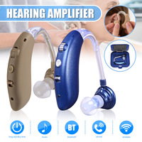 1X Rechargeable USB Wireless bluetooth Mini Digital Hearing Aid Sound Amplifier Ear Care Tools for Elderly/Hearing Loss Patient