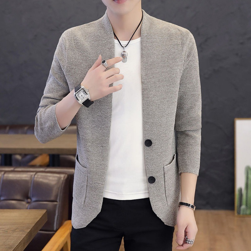 Men's Sweater 2019 New Cardigan Sweater Men Long Sleeve Clothes Men's Fashion Sweaters Thin Youth Coats Man Brand Clothing