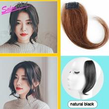 Человеческие волосы для наращивания на заколках, человеческие волосы для наращивания на заколках, человеческие волосы remy, средняя часть, коричневый, натуральный, черный
