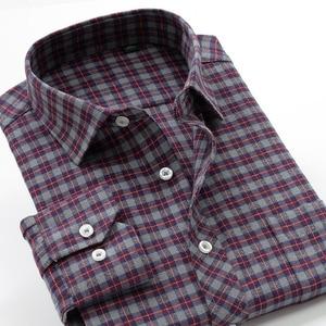 Image 3 - Plus Size Big 6XL 7XL 8XL 9XL 10XL 2020 Oversized Men Clothing Large Size Flannel Plaid Shirt Cotton Long Sleeve Shirt Male
